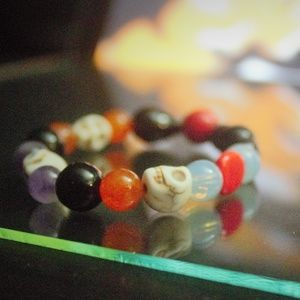 Jewelry - Clearance! Halloween Skull head stretchy bracelet
